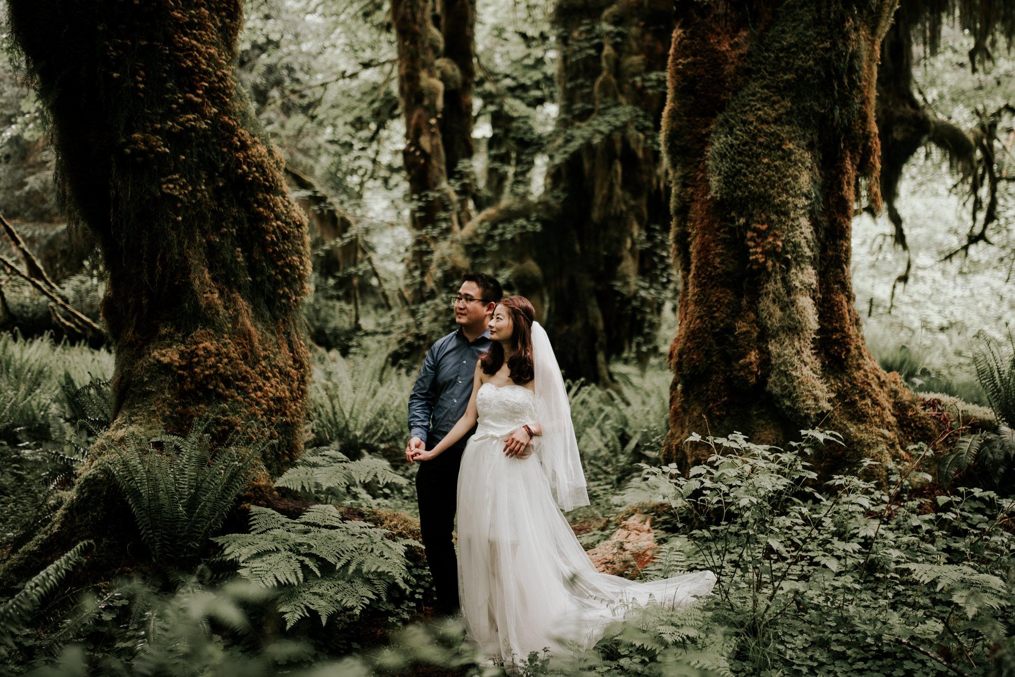 Engagement photos in rain