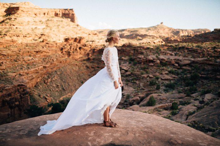 Moab, Utah destination desert elopement film photography by Kristen Kaiser